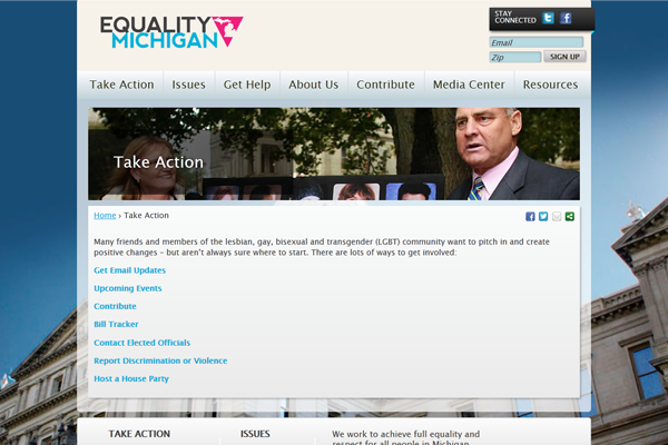 Equality Michigan-Take Action