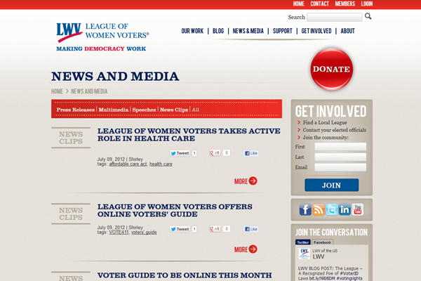 LWV-News and Media