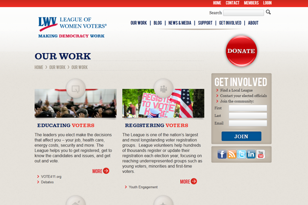 LWV-Our Work