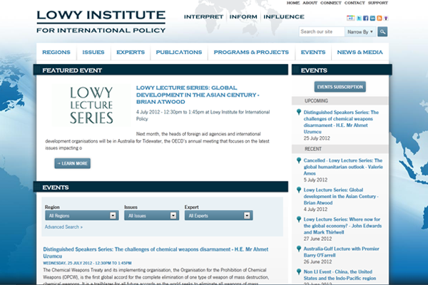 Lowy Institute-Events