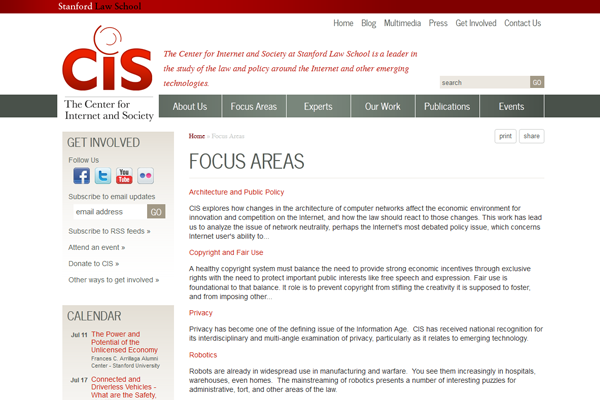 Stanford CIS-Focus Areas