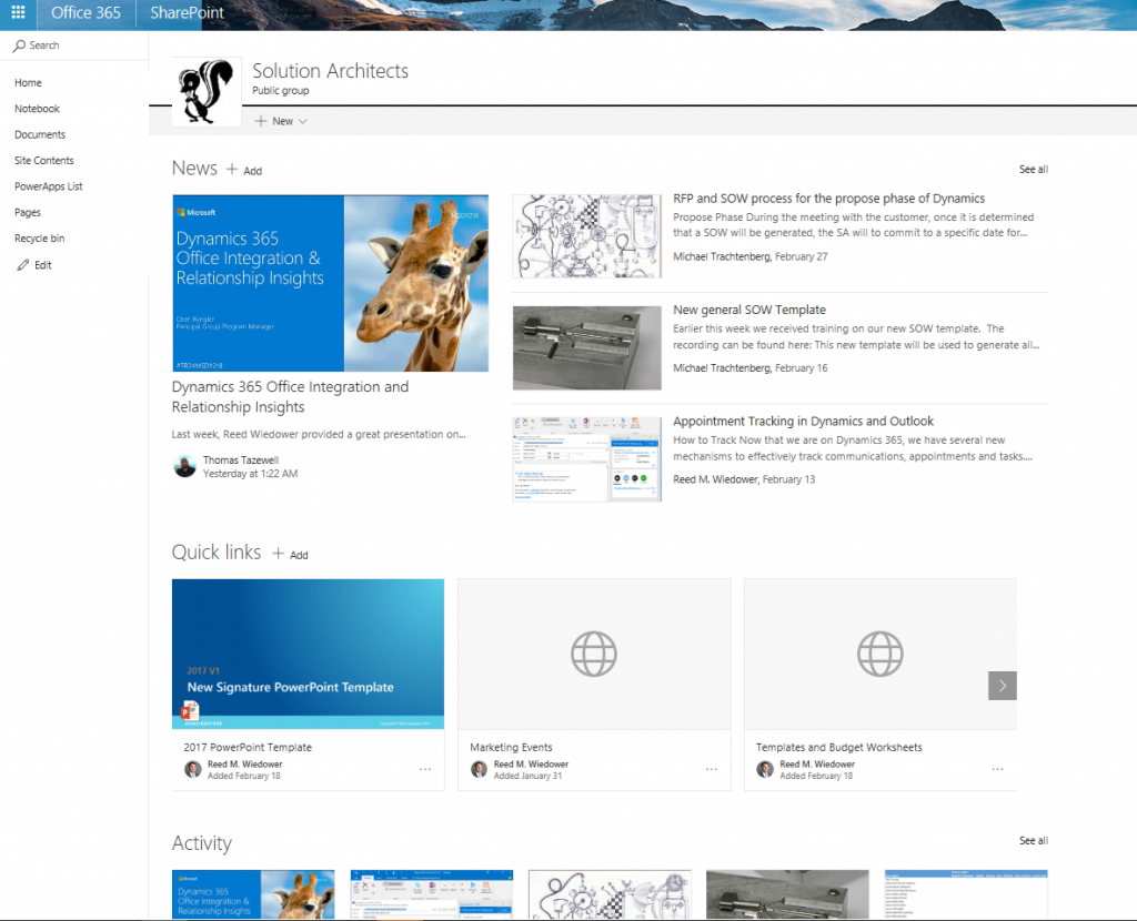 Collaboration Portals In Office 365 New Signature Change